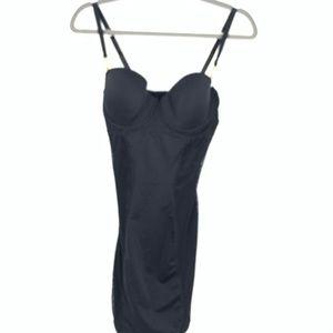 FIT women's body Shapewear bra girdle black large